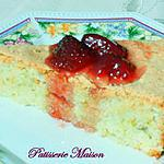 recette Gateau aux amandes et son coulis de fraises