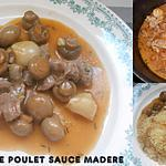recette GESIERS DE POULET SAUCE MADERE