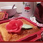 recette Clafouthé aux framboises, parfumé à la Rose et au Litchi