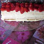 recette gâteau roulé au chocolat blanc et a la fraise