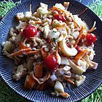 recette Salade aux coeurs de palmiers, blé, surimi et petits légumes