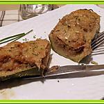 recette Courgettes farcies au thon et à la tomate