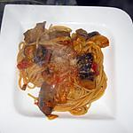 recette Pâtes aux aubergines, sauce peperoncino