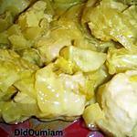 recette Curry de poulet aux endives