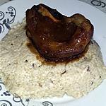 recette Risotto au champignons parmesan, et souris d'agneau laqué