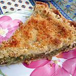 recette Tarte amandine à la rhubarbe façon crumble