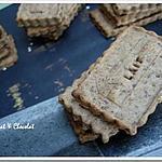 """recette ** Biscuits """"pas trop"""" à la farine complète et  confiture de lait aux amandes et noisettes torréfiées**"""
