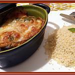 recette Cassolettes d'Aubergine et compotée de Tomates à la Mozzarella