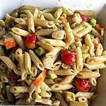 recette Salade composée avocat, pennes et surimi