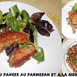 recette COTES D'AGNEAU PANEES AU PARMESAN