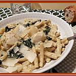recette Macaronis aux Epinards et Cabillaud