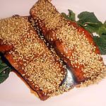 recette Pavé de truite au miel et graines de sésame