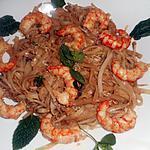recette Nouilles de riz aux crevettes