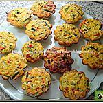 recette Briochettes de courgettes et poivrons