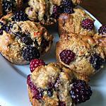 recette Muffins purée d'amandes & à la mûre