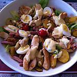 recette Salade poulet, bacon, cacahuètes et sauce César