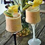 recette Smoothie ananas, banane et kiwi