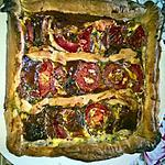 recette QUICHE JAMBON - FROMAGE - TOMATES