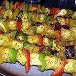 recette Brochettes d'encornets au curry