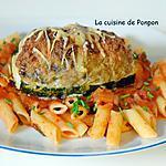 recette Courgette farcie à la viande et surprise mozza