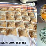 recette TORTELLINI AU VERT DE BLETTES ET PERSIL