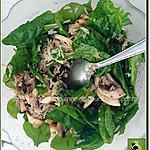 recette Mélange de riz, baby épinards et pistaches qui compose une salade