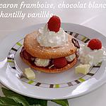 recette Macarons framboise, chantilly, chocolat blanc