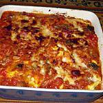 recette Gratin de tortellinis aux aubergines et aux fromages italiens