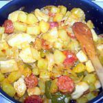 recette pomme de terre sauté au chorizo et lamelle d'encornet