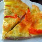 recette tarte au chou  chinois,jambon et tomate