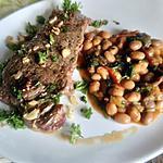 recette steak  ail haricots  blancs   de samar