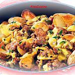 recette Viande hachée et pommes de terre à la poêle