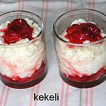 recette Riz au lait et prunes rouges confites