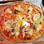 recette Pizza au poulet chèvre et camembert