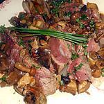 recette Filet de boeuf forestiere