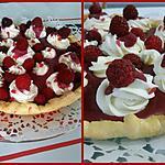 recette Tarte  petit bonheur      ...............au chocolat blanc & purée de framboises