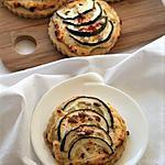 recette Tartelettes ricotta-courgettes, bio {sans gluten / sans oeufs / végétarien}