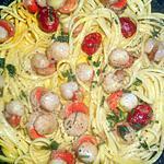 recette Linguines aux petites noix de st jacques