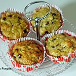 recette Muffin aux flocons d'avoine, banane, pomme et pépites de chocolat