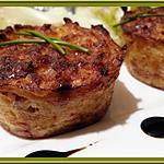 recette Minis gâteaux de pomme de terre et Lardons