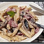 recette Penne aux Champignons et Bacon au Thermomix