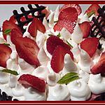 recette Entremet Fraise Chocolat Blanc et son Insert Marbré
