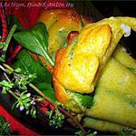 recette Fleurs salées au thym, épinards, ex..