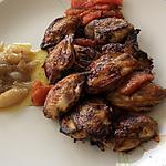 recette Filets de caille aux suprêmes de pamplemousse et échalotes confites