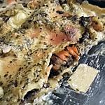 recette Lasagnes au Saumon, champignons et Pesto