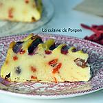recette Flan pâtissier à la courgette aux baies de goji