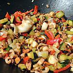 recette Fruits de mer et légumes au wok