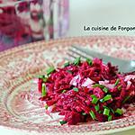 recette Betterave rouge et sa vinaigrette