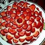 recette Tarte aux fraises et biscuits