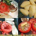 recette TOMATES FARCIES FENOUIL ET RATTES FRITES